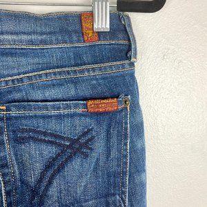 7 for all mankind Dark Indigo Flare Dojo Jeans